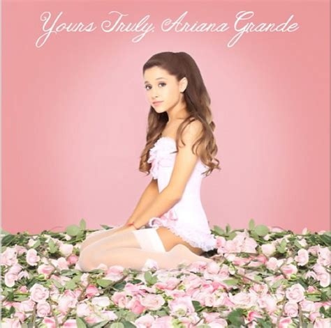 Grande Yours Truly Cd grande s yours truly album artwork and release date promoted on instagram huffpost