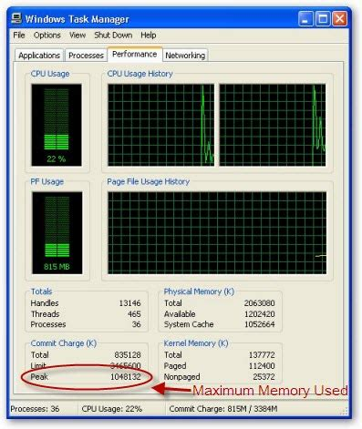 ram checker windows xp how to your system s maximum ram usage and the issue