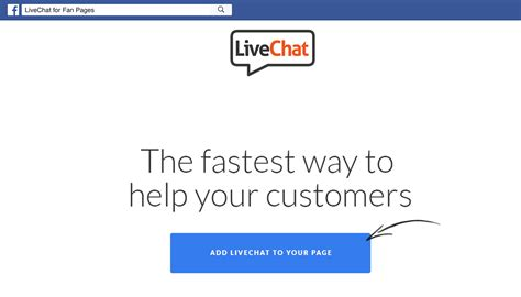 live chat add livechat on your fan page