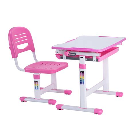 desk and chairs for best desk height adjustable children desks chairs