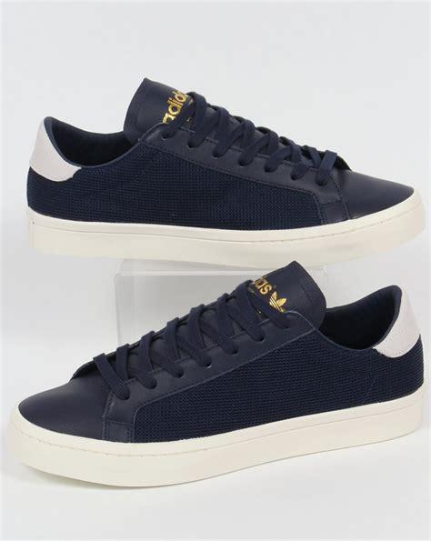 adidas originals court vantage trainers navyshoeslow top