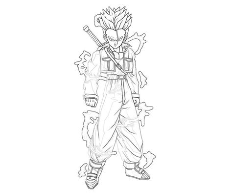dragon ball z trunks coloring pages free coloring pages of dragon ball z trunk