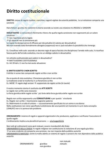 dispensa diritto costituzionale concetti generali appunti di diritto costituzionale