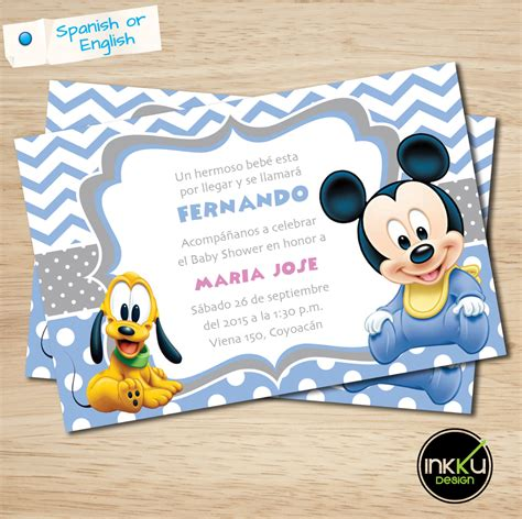 Mickey Baby Shower Invitations by Mickey Mouse Baby Shower Invite Mickey Mouse Baby Shower