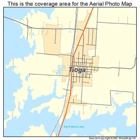 tioga texas map aerial photography map of tioga tx texas