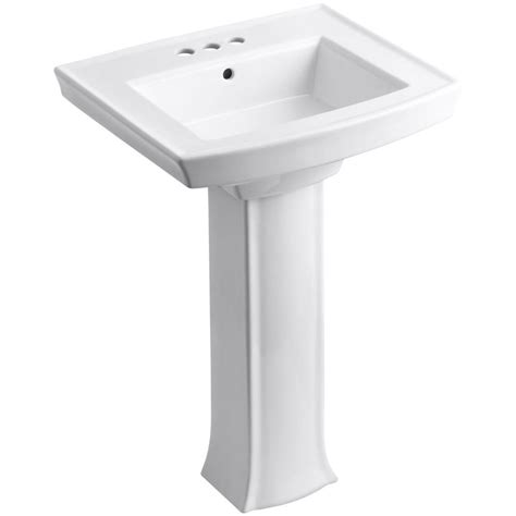 home depot sink bathroom kohler archer vitreous china pedestal combo bathroom sink