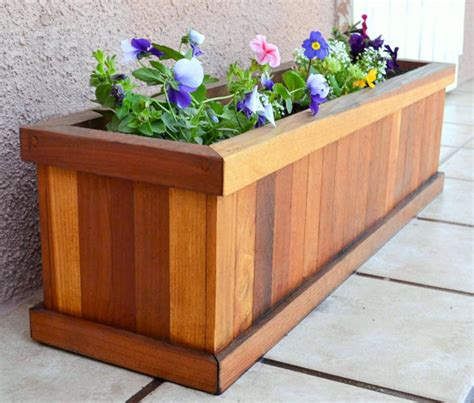 planter box 3ft redwood flower planter box for windows by redwoodgardens