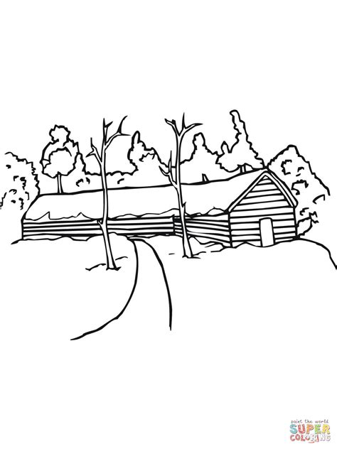 church landscape coloring coloring pages