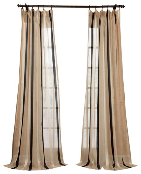 Linen Sheer Curtains Carlton Linen Blend Stripe Sheer Curtain Traditional Curtains By Half Price Drapes