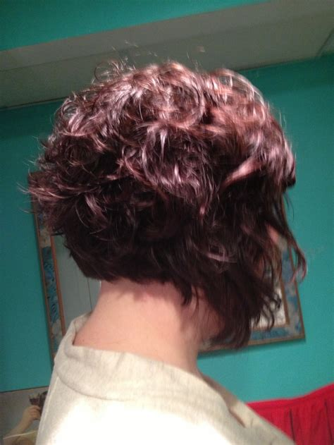 A Line Bob Hairstyles Pictures With Curly Hair | a line curly bob haircut ideas pinterest