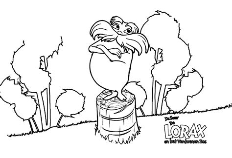 Printable Lorax Coloring Pages Coloring Me The Lorax Coloring Pages