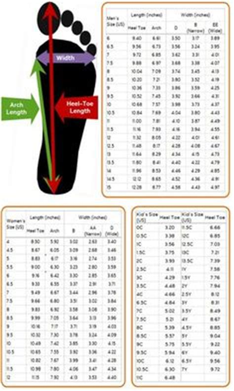 shoes measurement chart for printable and shoes sizing chart for printable