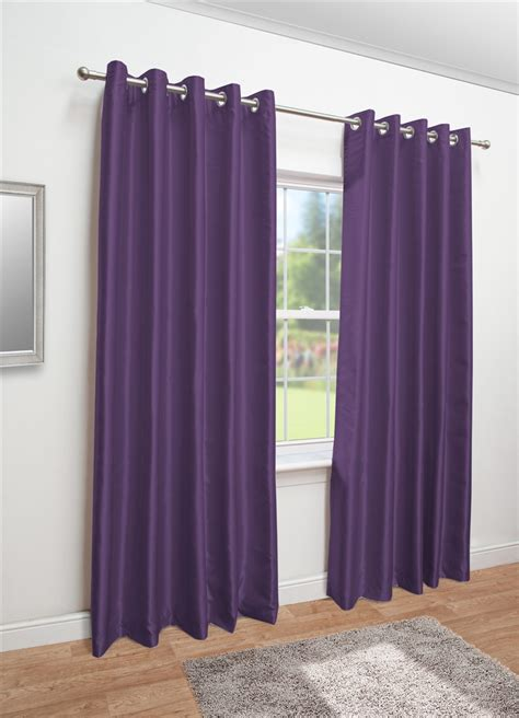 lined faux silk curtains aubergine faux silk eyelet fully lined curtains