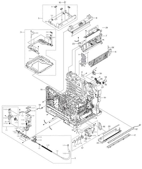 Xerox Office Products Phaser 6100 Parts List And Diagrams