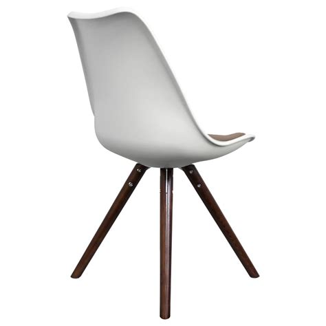 White Dining Chair Cushions Only Design White Dining Chair And Slate Cushion With Pyramid Style Walnut Stained Wood Legs