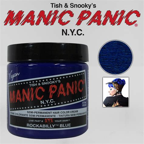 Manic Panic Nyc Semi Permanent Hair Color Bad Boy Blue Classic manic panic classic semi permanent vegan hair dye color all colors 4 oz new ebay