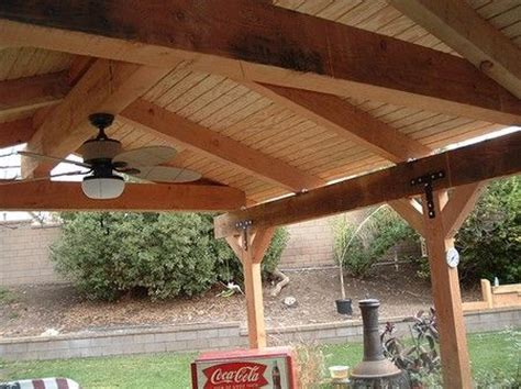 patio roof pergola   Pin Patio Cover Roof Plans Images