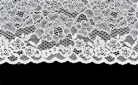 21867 Blackwhite Lace white patterned lace isolated on black background stock photo colourbox