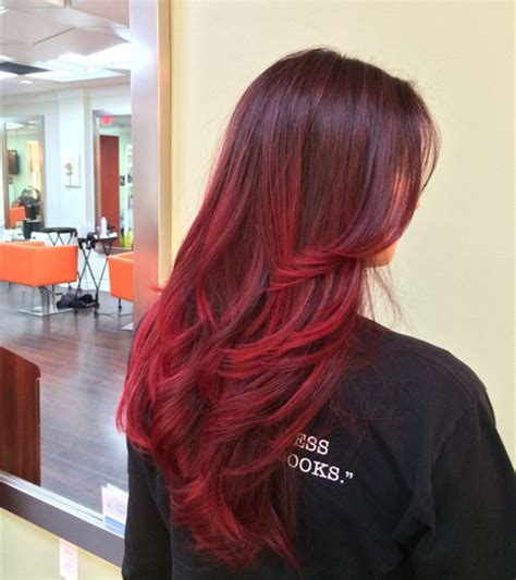 red ombre hair top 20 best balayage hairstyles for natural brown black