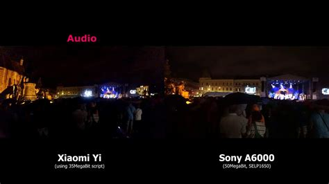 xiaomi yi script tutorial action camera vs mirrorless low light audio test youtube