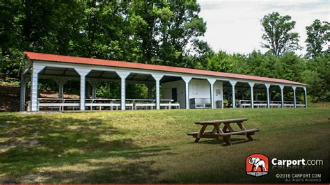 Outdoor Metal Shelters by Outdoor Metal Pavilions Picnic Shelters For Sale