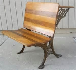 antique school desk cast iron wood student a h