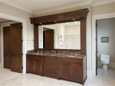 Master Bathroom Vanity Product Details Master Bathroom Vanity And Finished Soffit Aura Cabinetry Building Quality