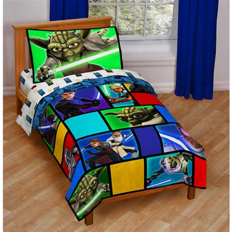 star wars bed sheets 4pc star wars wisdom toddler bedding set comforter