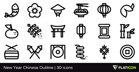 new year animal outlines new year outline 30 gratis iconos archivos svg