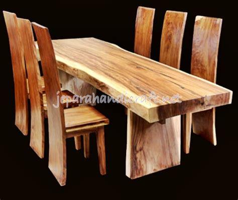 Meja Makan Kayu Trembesi Utuh jual set kursi makan antik trembesi solid wood murah