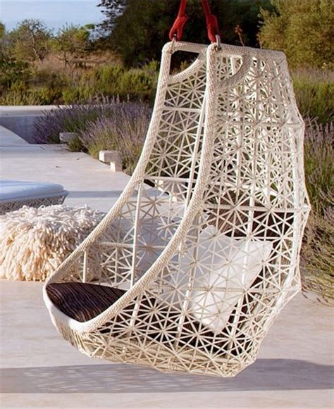 hanging chairs for outside hanging chair maia by kettal design patricia urquiola
