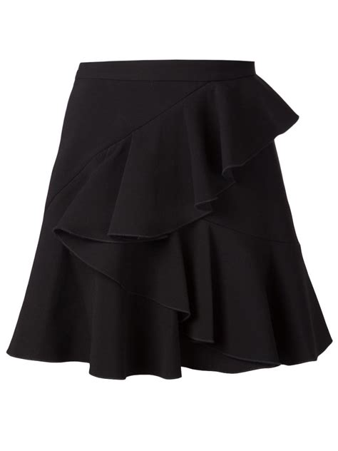 Ruffled Skirt co layered ruffle skirt in black lyst