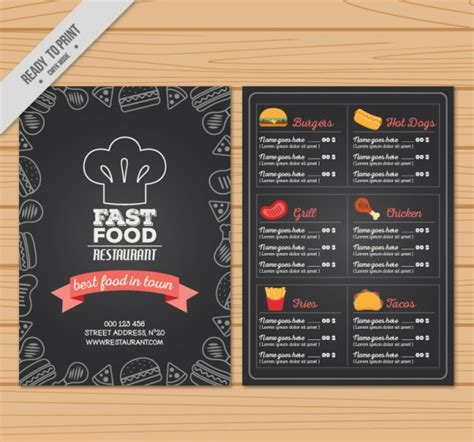 Fast Food Menu Card Templates by 50 Free Psd Restaurant Flyer Menu Templates