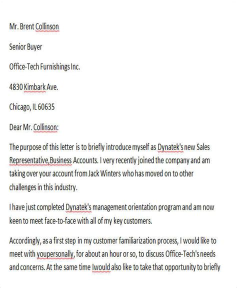 Introduction Letter To Client Exle 32 Introduction Letter Formats