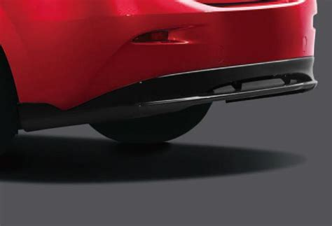 aero kit jet black rear diffuser mazda  sedan