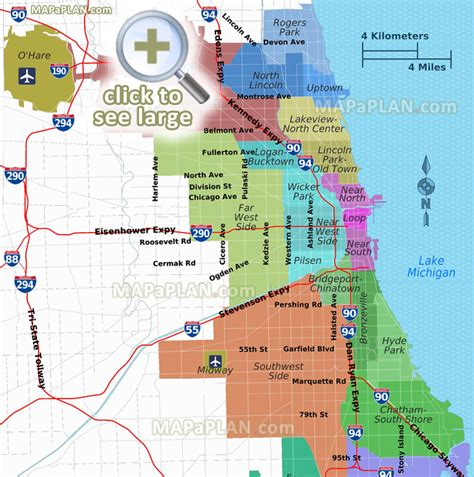 chicago financial district map chicago maps top tourist attractions free printable