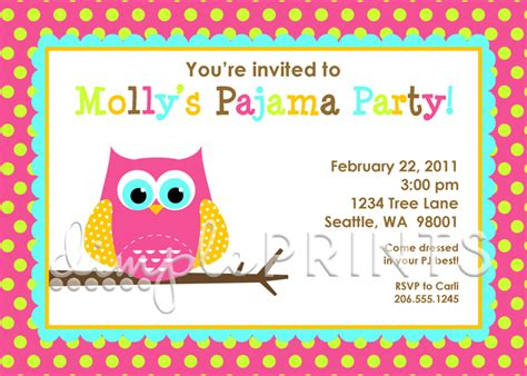 printable owl party invitations night owl printable birthday party invitation dimple