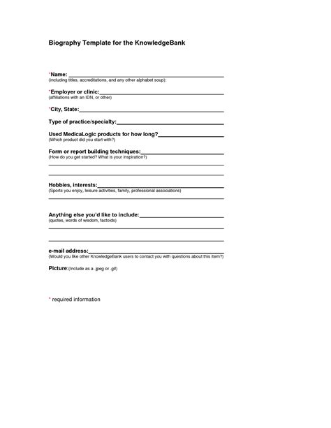 employee biography template best photos of biography template word personal