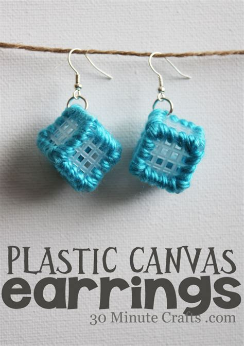how to make plastic jewelry plastic canvas earrings allcrafts free crafts update