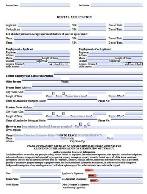 Free Missouri Rental Application Form Pdf Template Missouri Lease Agreement Template