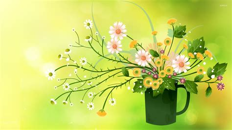 Summer Bouquet by Summer Bouquet In A Mug Wallpaper Digital Wallpapers