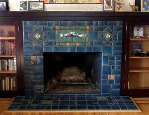 mission style fireplace bungalow style