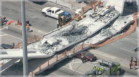 design build contract florida 6 dead in miami foot bridge collapse bridge passed stress