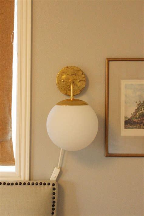 Diy Wall Sconce Diy Globe Brass Wall Sconce