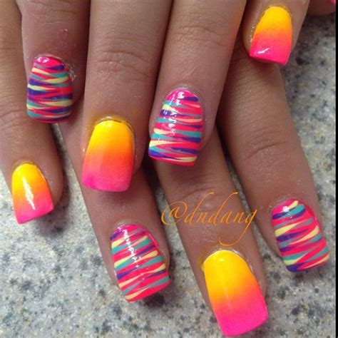 bright pattern nails 25 best ideas about bright nail designs on pinterest