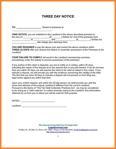 30 day notice to landlord letter template 10 exle of 30 day notice to tenant notice letter