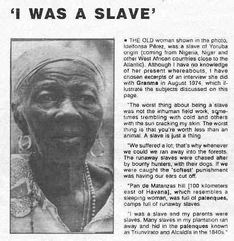 """""""i was a slave"""" the life of slavery in cuban latin america"""