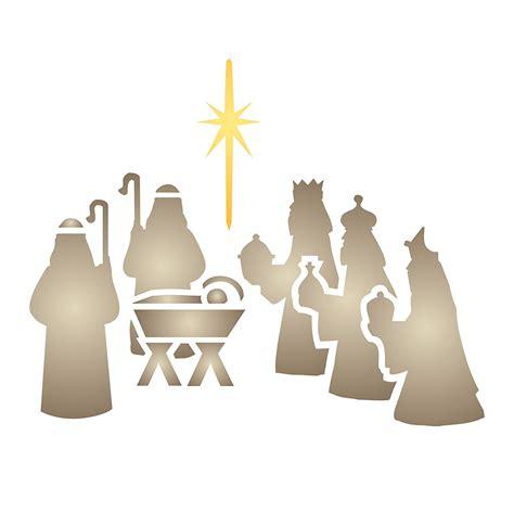 printable nativity stencils free nativity stencils print nativity banner sle 800
