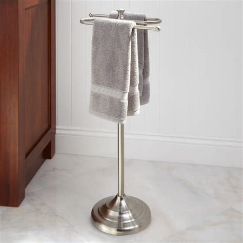 smithfield collection free standing towel bar in brushed