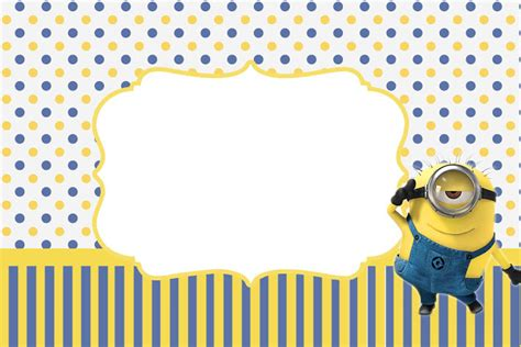 Inspired In Minions Party Invitations Free Printables Oh My Fiesta In English Minion Baby Shower Invitation Template